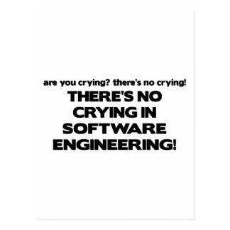 ソフトウェアエンジニアの泣き叫び無し ポストカード