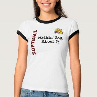 ソフトボールについて柔らかいNothin Tシャツ
