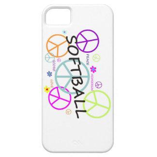 ソフトボールによって着色されるピースサイン iPhone SE/5/5s ケース