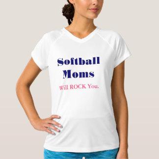 ソフトボールのお母さんはTシャツのカスタムのお母さん揺すります Tシャツ