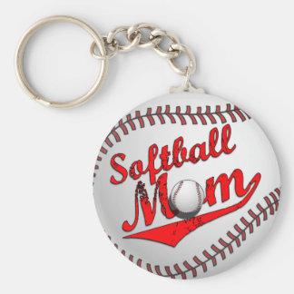 ソフトボールのお母さん キーホルダー