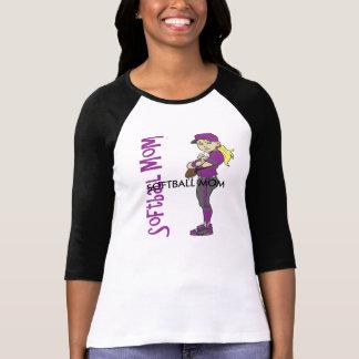 ソフトボールのお母さん Tシャツ
