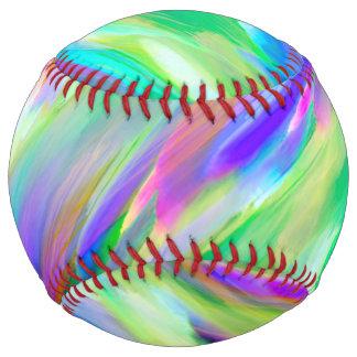 ソフトボールのカラフルなデジタルに芸術のはねかけること ソフトボール