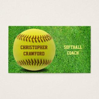 ソフトボールのコーチの球の名刺 名刺