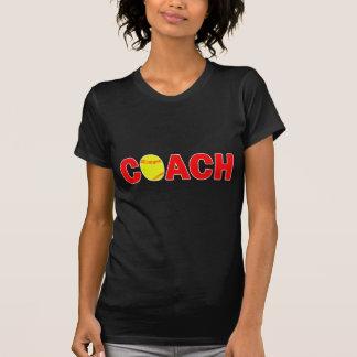 ソフトボールのコーチの黒人女性のFastpitchのソフトボール Tシャツ
