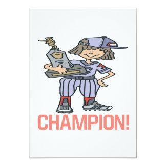 ソフトボールのチャンピオン カード