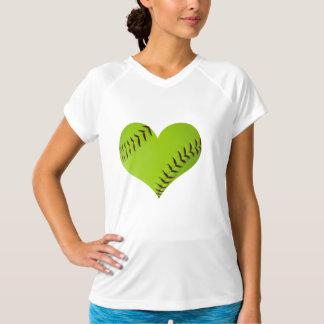 ソフトボールのハートのワイシャツ Tシャツ