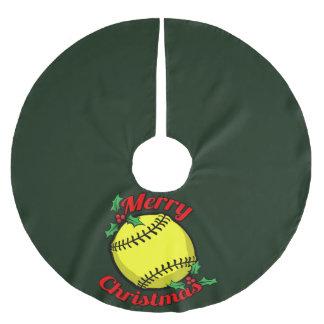 ソフトボールのメリークリスマス ブラッシュドポリエステルツリースカート