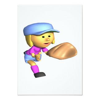ソフトボールの外野手 カード