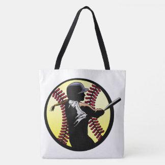 ソフトボールの女性のねり粉 トートバッグ