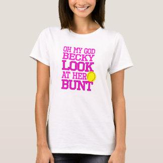 ソフトボールの帆腹のTシャツ Tシャツ