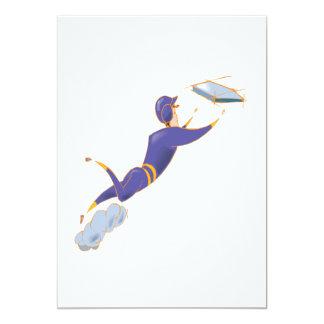 ソフトボールの滑走 12.7 X 17.8 インビテーションカード