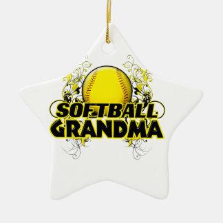 ソフトボールの祖母(十字) .png セラミックオーナメント