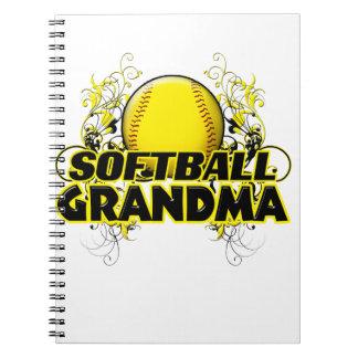 ソフトボールの祖母(十字) .png ノートブック