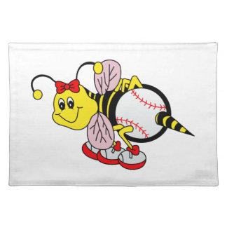 ソフトボールの蜂 ランチョンマット
