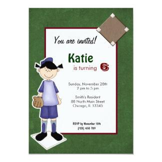 ソフトボールの誕生日の招待状 カード