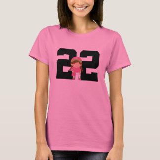 ソフトボールプレーヤーの均一第22 (女の子)ギフト Tシャツ