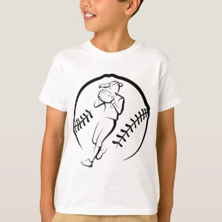 ソフトボールプレーヤーの投げること Tシャツ
