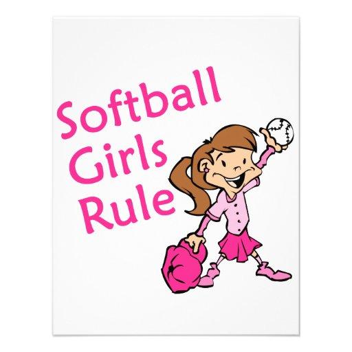 ソフトボール|女の子|規則 オリジナル招待状