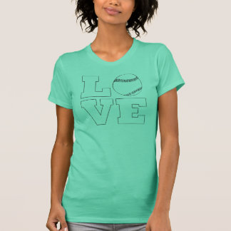 ソフトボール/野球愛女性の写実的なTシャツ Tシャツ
