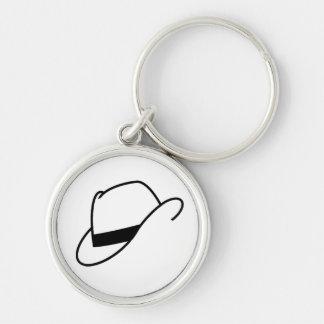 ソフト帽の帽子Keychain キーホルダー