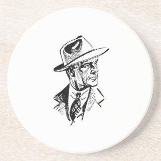 ソフト帽の携帯者 コースター