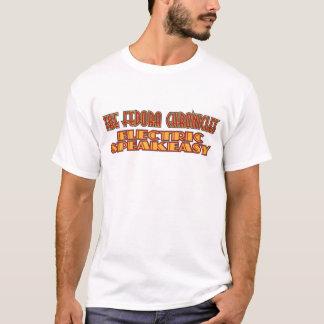 ソフト帽は電気もぐり酒場を記録します Tシャツ