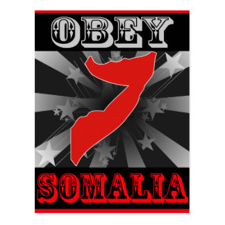ソマリアに従って下さい ポストカード