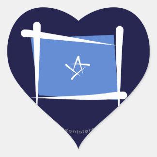 ソマリアのブラシの旗 ハートシール