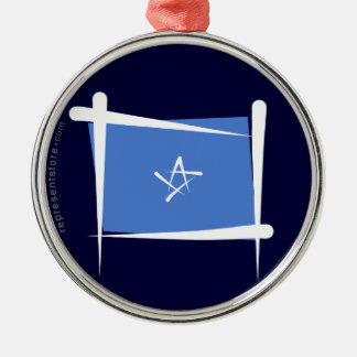 ソマリアのブラシの旗 メタルオーナメント