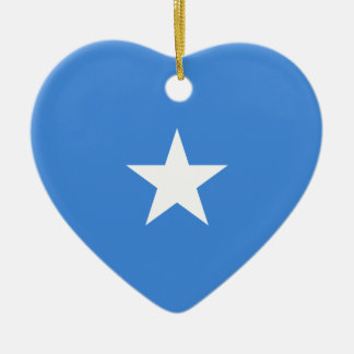 ソマリアの旗のハートのオーナメント セラミックオーナメント