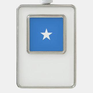 ソマリアの旗 シルバープレートフレームオーナメント