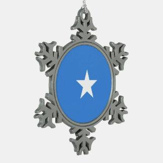 ソマリアの旗 スノーフレークピューターオーナメント