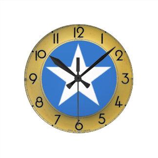 ソマリアの旗 ラウンド壁時計