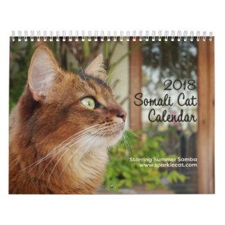 ソマリ族猫、主演の夏のサンバ2018年 カレンダー