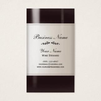 ソムリエのワイン・ボトルの名刺 名刺