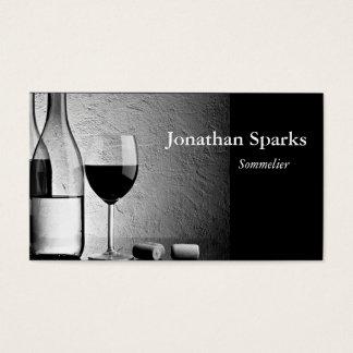 ソムリエのワイン・ボトル 名刺