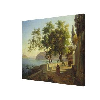 ソレントのCapucins、1828年の台地 キャンバスプリント