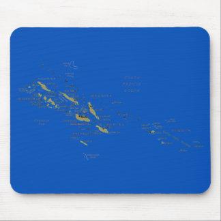 ソロモン諸島の地図のマウスパッド マウスパッド
