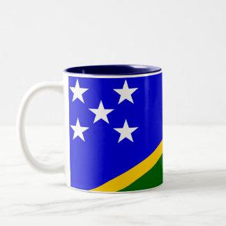 ソロモン諸島の旗のマグ ツートーンマグカップ