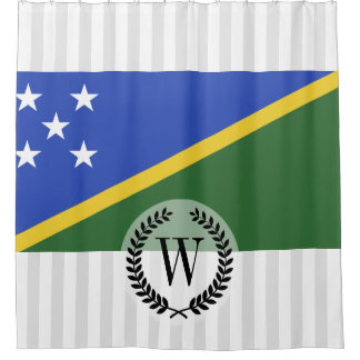 ソロモン諸島の旗 シャワーカーテン