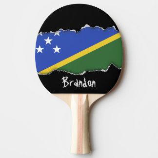 ソロモン諸島の旗 卓球ラケット