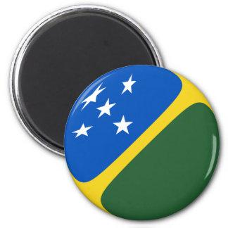 ソロモン諸島Fisheyeの旗の磁石 マグネット