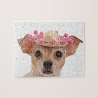 ソンブレロの小さい犬のポートレート ジグソーパズル