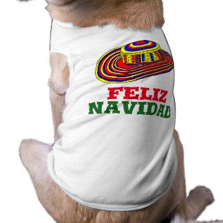 ソンブレロ犬のクリスマスのワイシャツとのFeliz Navidad 犬用袖なしタンクトップ