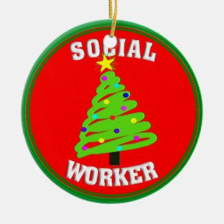 ソーシャルワーカーのクリスマスツリーのオーナメント セラミックオーナメント