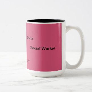 ソーシャルワーカーのマグ ツートーンマグカップ