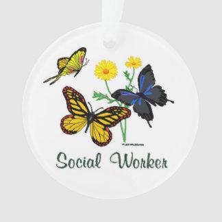 ソーシャルワーカーの蝶 オーナメント