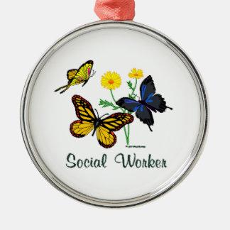 ソーシャルワーカーの蝶 メタルオーナメント