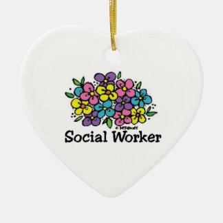 ソーシャルワーカーの開花 セラミックオーナメント